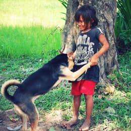 柬埔寨的小孩