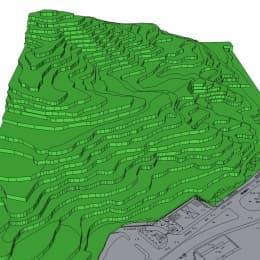 疊石塘山體現時面貌模擬圖
