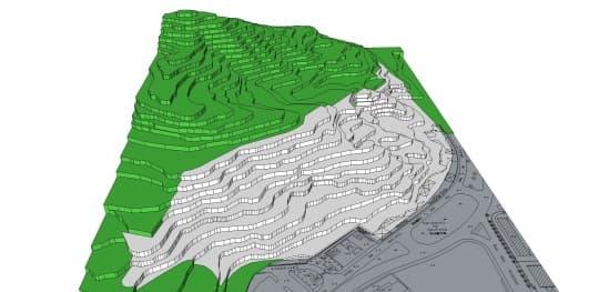 按發展商項目推算牽涉到的削山範圍