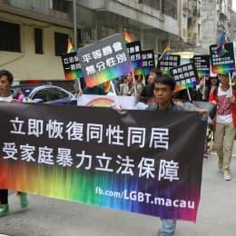 去年的澳門彩虹遊行,為澳門首次(來源:澳門同志權益關注組)