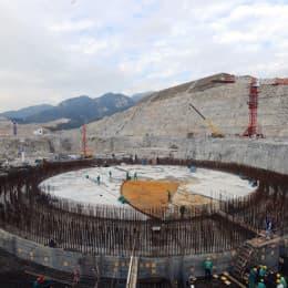 在建的台山核電站一號核島鋼村施工情況(網上圖片)