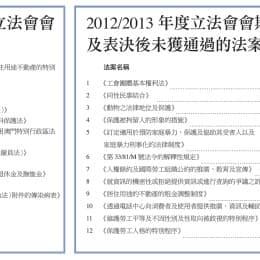 2012/2013年度立法會會期經一般性討論及表決後未獲通過的法案/獲通過的法案