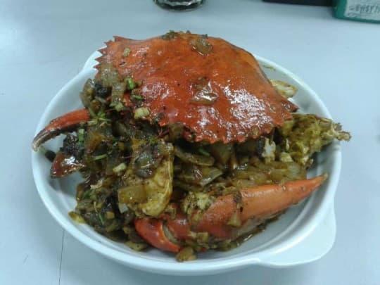 咖喱蟹是琛哥拿手的菜式之一。