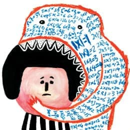 插畫:〈吃掉想像力的教育〉,袁志偉