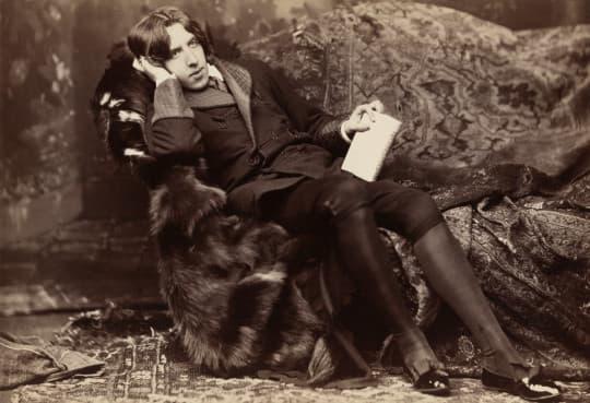 王爾德(圖片來源:http://en.wikipedia.org/wiki/File:A_Wilde_time_3.jpg)