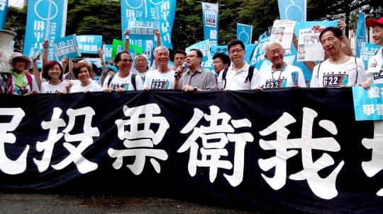 6.22佔中民間公投當日,已錄得七十萬人投票。