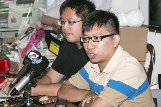 愛瞞傳媒副社長崔子釗質疑澳門大學校方針對愛瞞傳媒,干預新聞自由。