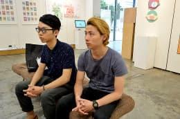 今年畢業的多媒體設計師Ben(左)和Sean