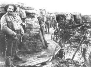 1918年初在利斯河防線的葡國遠征軍(圖片來源:http://www.areamilitar.net/HISTbcr.aspx?N=4)