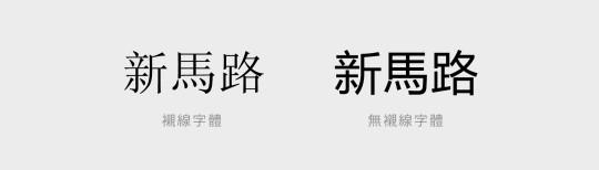 就連Windows的中文預設字體都從原來的宋體或細明體,改為無襯線字體(黑體)了