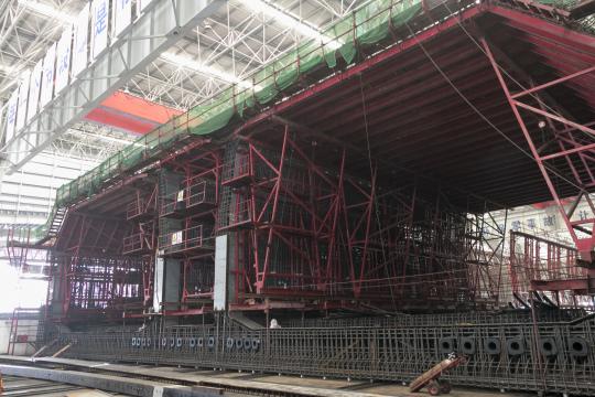 海底隧道沉管預製件的製造在桂山島進行