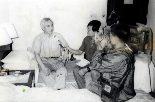 聶國瑞當年訪問經澳門逃走的六四流亡人士。