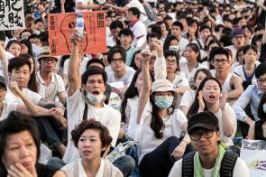 五月廿五日,超過兩萬名市民走上街頭,抗議政府推行「高官離補法案」