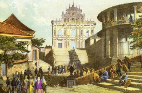 在十九世紀時,大三巴依然是宗教聖地,每年都會舉行彌撒。