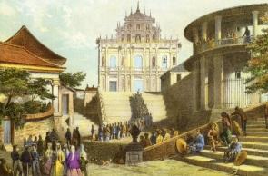 在十九世紀時,大三巴依然是宗教聖地,每年都會舉行彌撒。在十九世紀時,大三巴依然是宗教聖地,每年都會舉行彌撒。