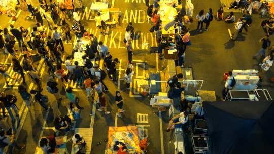 香港「佔中」黃雨傘運動