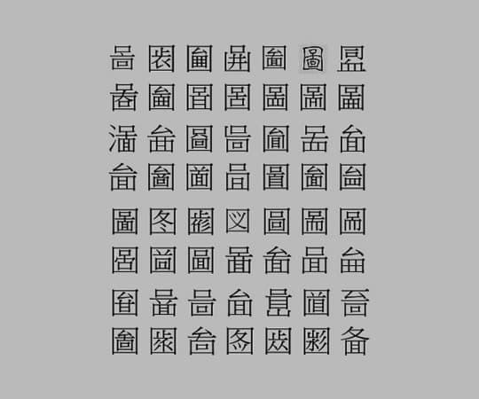 部份異體字由於不同歷史因素,同一文字自古至今有不同的寫法。