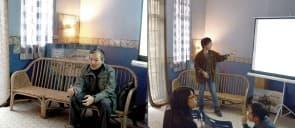 《摩登的線條》主要撰稿人呂澤強(左)和插畫及設計師思崎井進行了分享