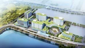 離島醫院綜合體將來會有輕軌接駁。