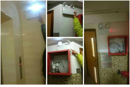 居雅大廈走火梯消防照明系統失靈,居民憂心影響消防安全。(圖片由小業主提供)