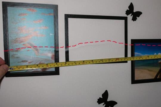 林小姐單位牆身裂痕長達三十公分。