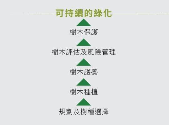 圖一 可持續綠化的進程