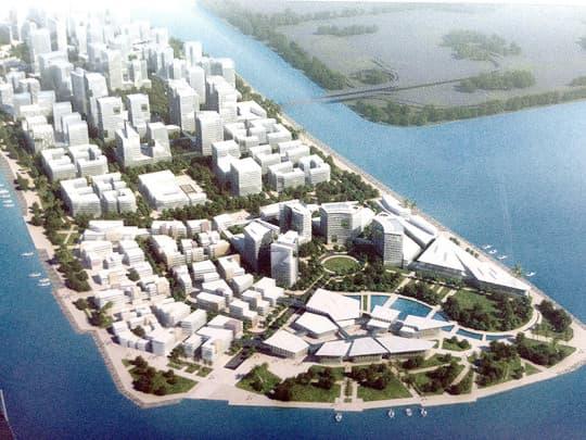 (圖二)2011年諮詢文本中新城A區南端的文化親水門戶公園(p.33)