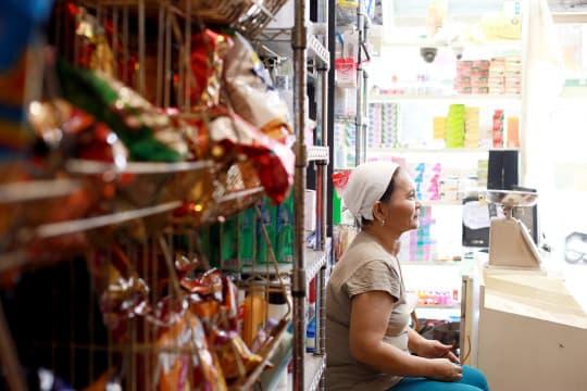 店內的道地食物是由老闆娘的母親所煮。