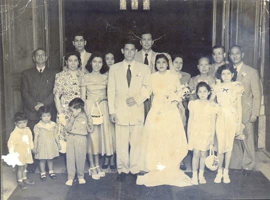 Bela 祖父母的結婚照。