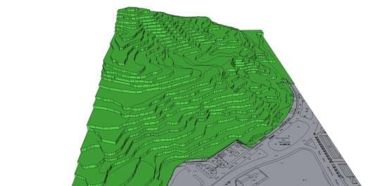 001疊石塘山體現時面貌模擬圖