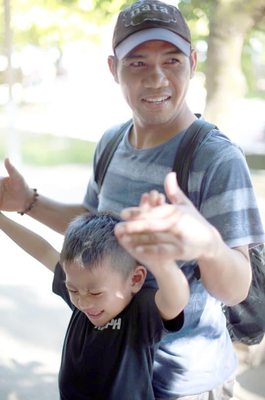 Aurelio跟小兒子