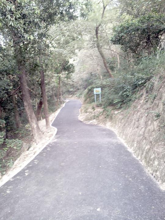 原本是泥路的大潭山行山徑變成了瀝青路