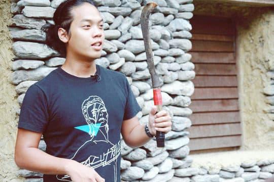 台灣團體「歐北來」的蔡昇達(阿達)帶來山的聲音。