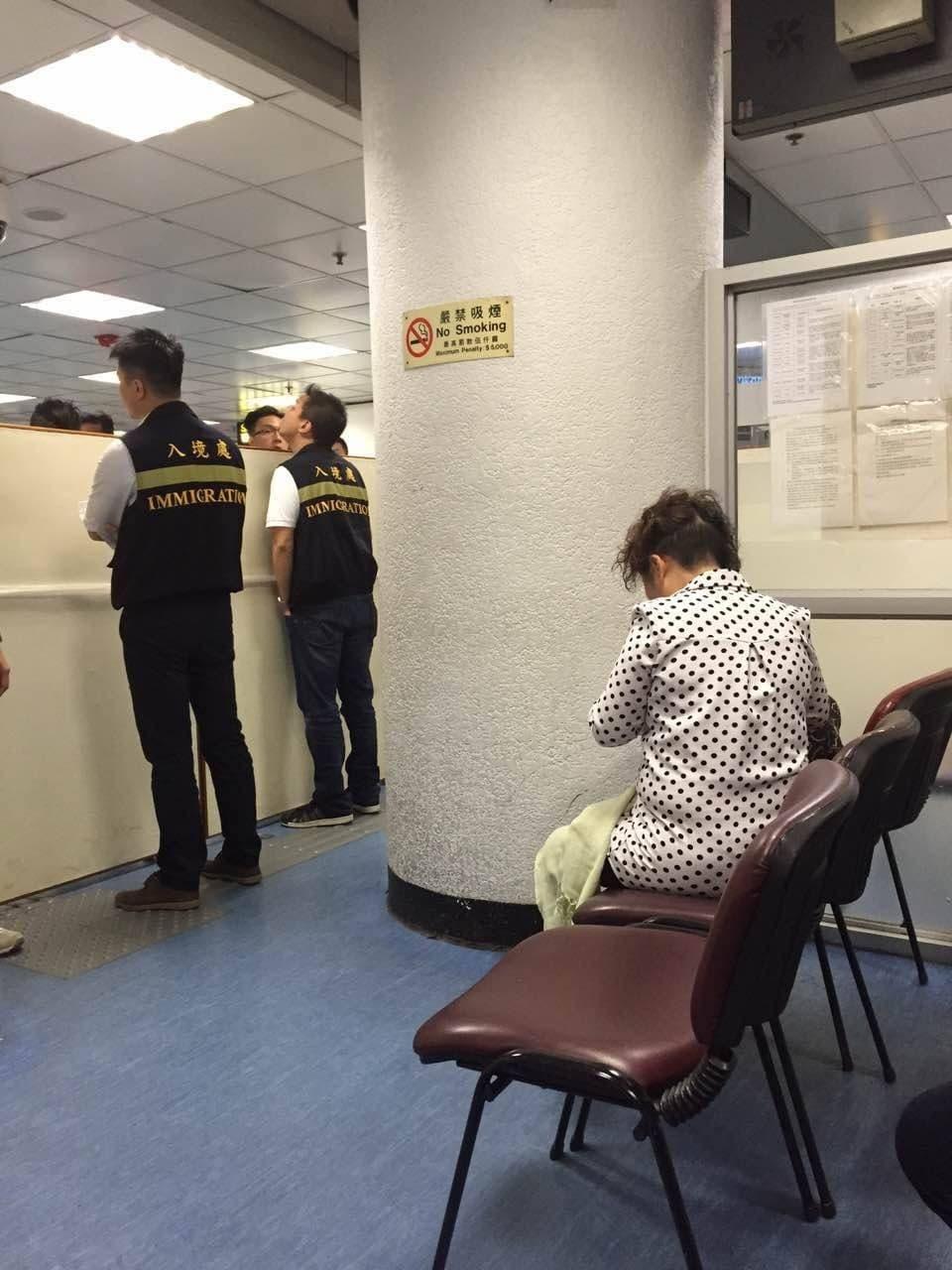 昨晚已有數名小業主被拒入境(圖片由小業主提供)