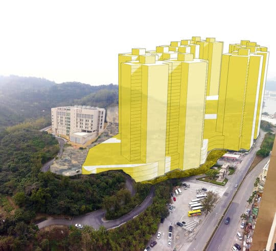 叠石塘山超高樓模擬圖
