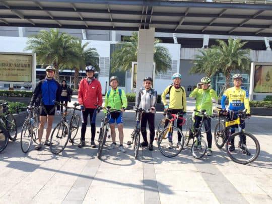 和平谷的單車友週末過關去珠海踩單車