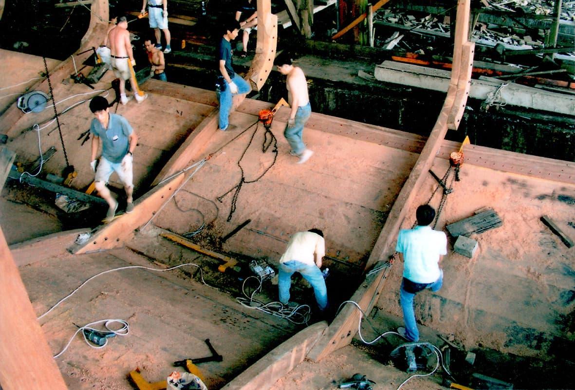 路環荔枝碗的船廠,2006年最後一艘船出廠後便廢棄至今。