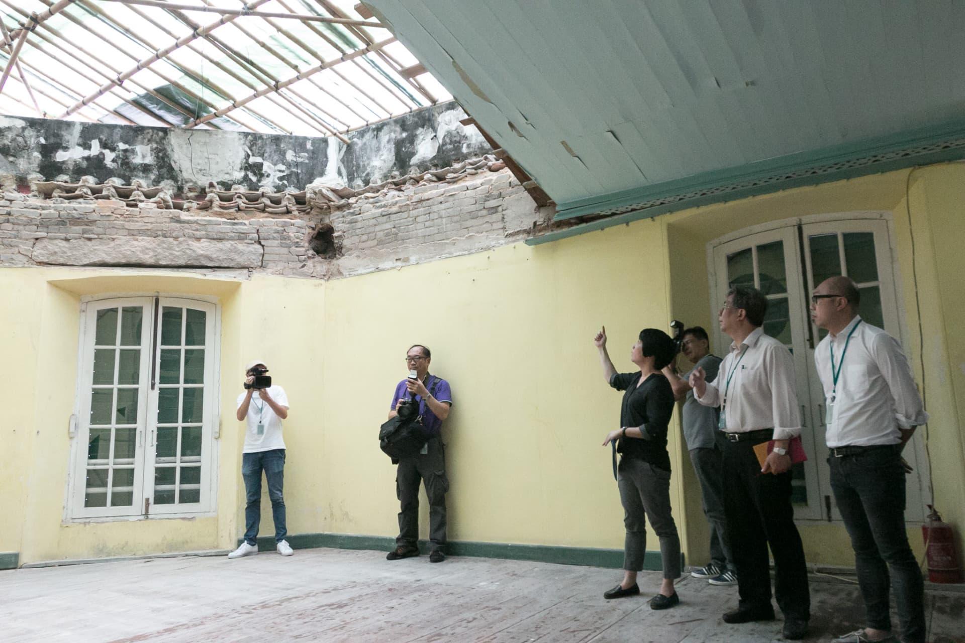 文化局邀請傳媒視察聖奧斯定堂倒塌事故現場