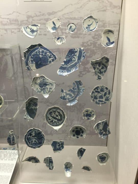 崗頂出土的克拉克瓷片