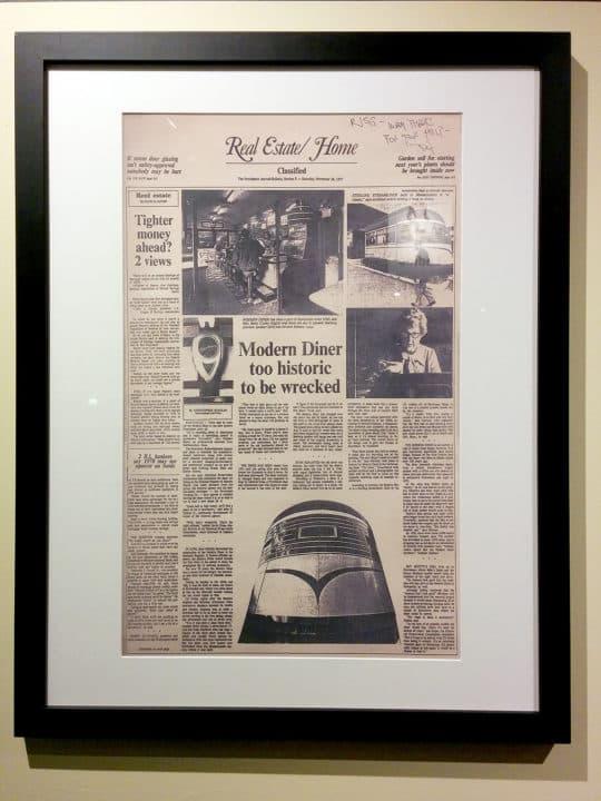 館內亦展出有關餐廳的舊報道
