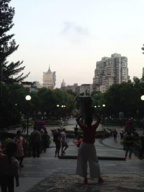 《淺踏》在白鴿巢公園內進行。
