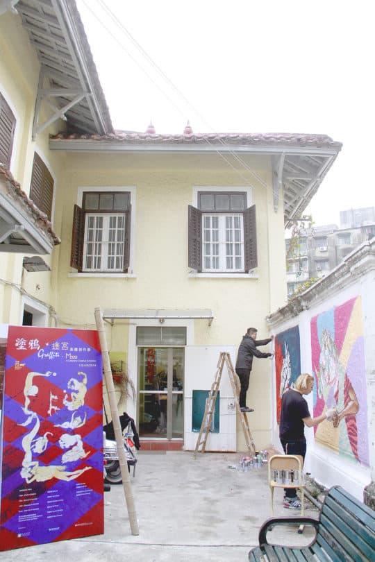 目前塗鴉已經成為一種裝飾工具,但作為藝術本身來展示的機會極少,公共空間更是完全消失了。牛房塗鴉展,2014。