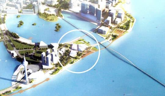 原訂在B區的旅遊文化設施在2015年的新方案中悄悄消失,圖為2011規劃方案。