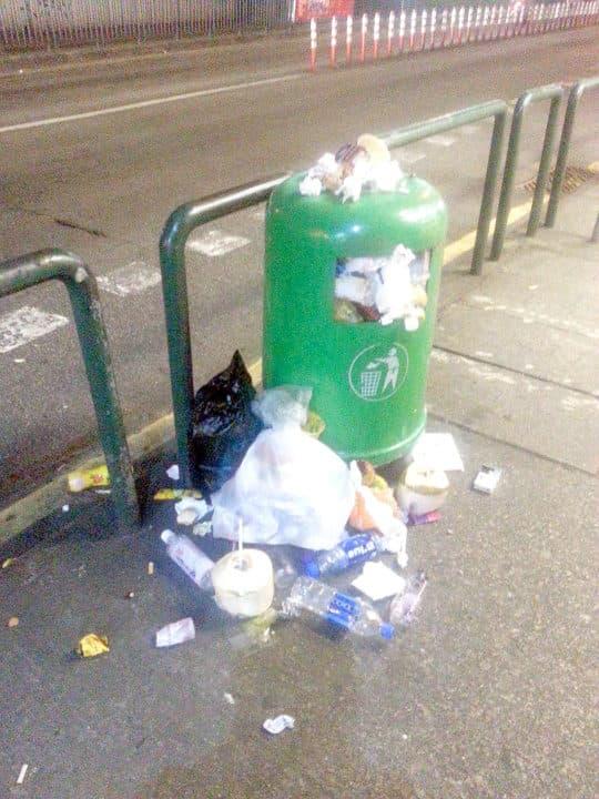 垃圾總是滿溢。