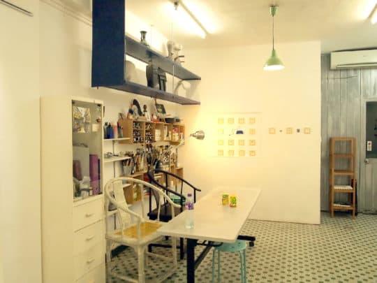 蘇文樂竹的畫廊同時也是工作室。