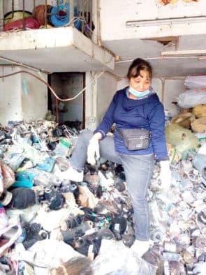英姐的店舖主要回收五金廢品,凡是金屬類都收。