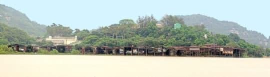 荔枝碗造船廠建築群,山、村、廠、灣融合的景觀。