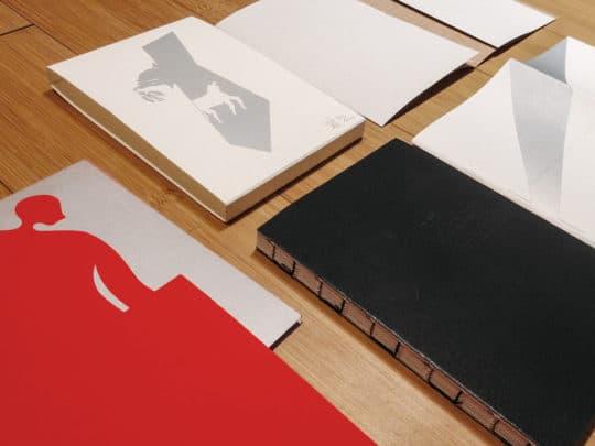 台灣剪紙藝術家吳耿禎與裝幀設計師何佳興合作的概念書《一千零一夜九個海一片黃昏》。