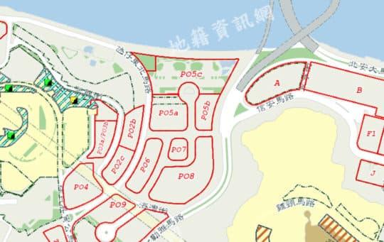 氹仔東北馬路及高勵雅馬路PO5a、PO5b、PO6、PO8地段