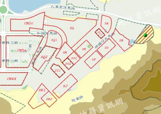 路環石排灣工業區(蝴蝶谷)SA、SB、SD、SE、SF、SG1、SG2、SJ、SK1、SK2、SL、SQ1、SQ2地段